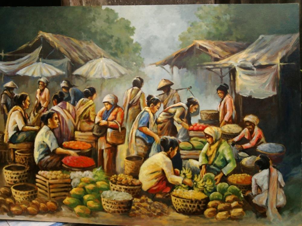 gambar-lukisan-pasar-tradisional